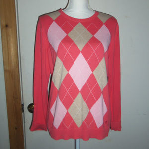 Izod Argyle Sweater L